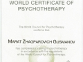 world certificate of psychotherapy
